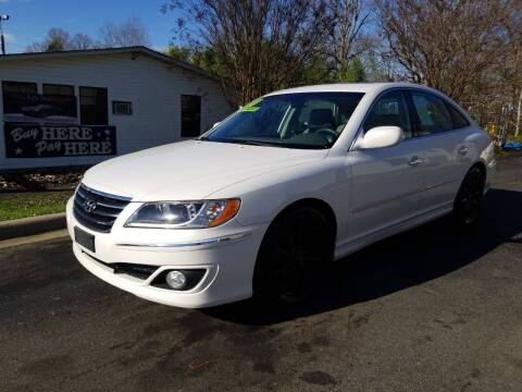 2011 Hyundai Azera for sale at TR MOTORS in Gastonia NC