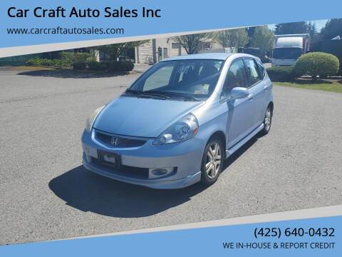 2008 Honda Fit for sale at Car Craft Auto Sales Inc in Lynnwood WA