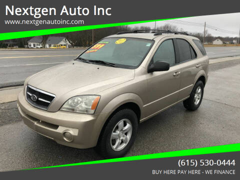 2006 Kia Sorento for sale at Nextgen Auto Inc in Smithville TN