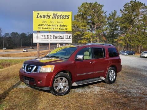 2011 Nissan Armada for sale at Lewis Motors LLC in Deridder LA