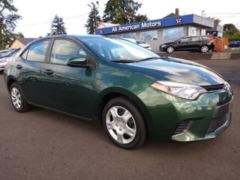 2016 Toyota Corolla for sale at All American Motors in Tacoma WA