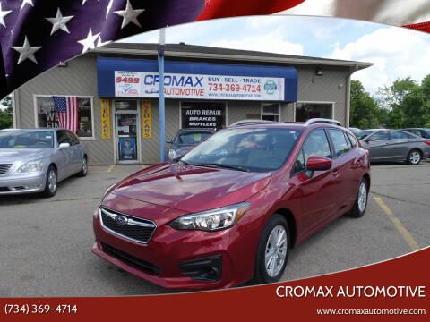 2018 Subaru Impreza for sale at Cromax Automotive in Ann Arbor MI