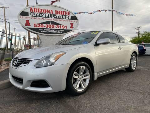 2012 Nissan Altima for sale at Arizona Drive LLC in Tucson AZ