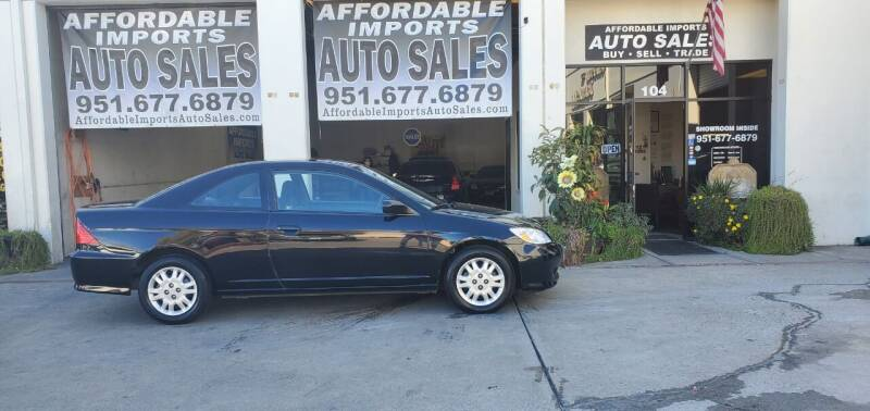 2004 Honda Civic for sale at Affordable Imports Auto Sales in Murrieta CA