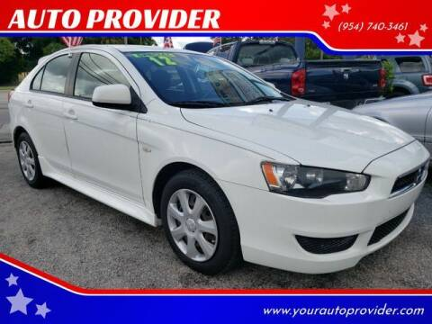 2012 Mitsubishi Lancer Sportback for sale at AUTO PROVIDER in Fort Lauderdale FL