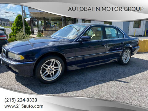 2001 BMW 7 Series for sale at Autobahn Motor Group in Willow Grove PA