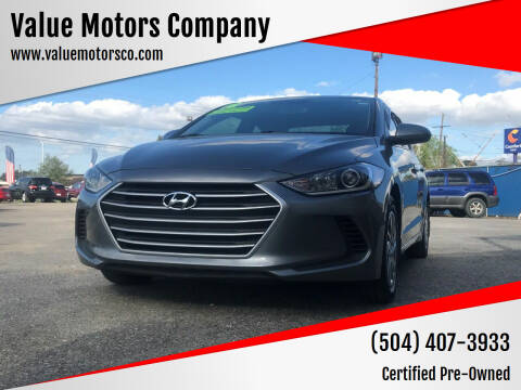 2018 Hyundai Elantra for sale at Value Motors Company in Marrero LA