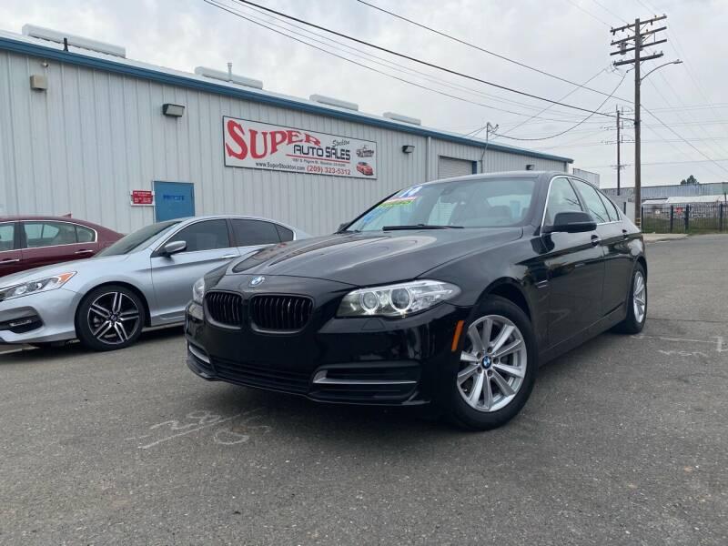 2014 BMW 5 Series for sale at SUPER AUTO SALES STOCKTON in Stockton CA