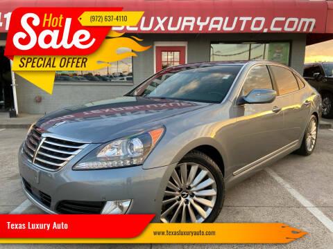 2014 Hyundai Equus for sale at Texas Luxury Auto in Cedar Hill TX