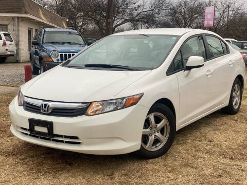 2012 Honda Civic for sale at Texas Select Autos LLC in Mckinney TX