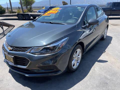 2018 Chevrolet Cruze for sale at Soledad Auto Sales in Soledad CA