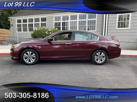2015 Honda Accord for sale at LOT 99 LLC in Milwaukie OR