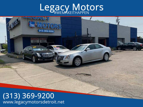 2012 Cadillac CTS for sale at Legacy Motors in Detroit MI