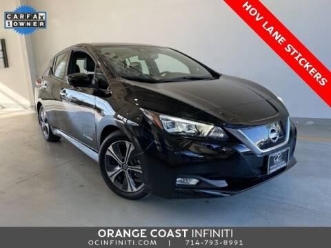 2019 Nissan LEAF for sale at ORANGE COAST CARS in Westminster CA