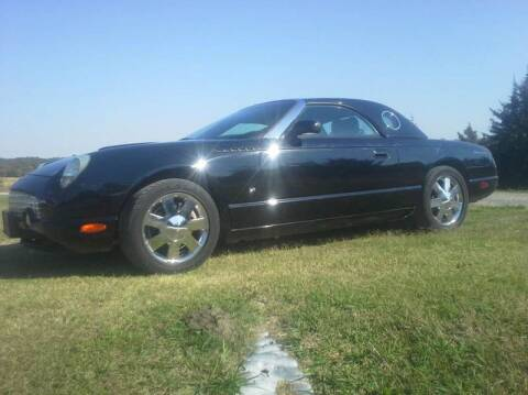 2003 Ford Thunderbird for sale at CAVENDER MOTORS in Van Alstyne TX