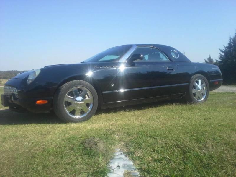 2003 Ford Thunderbird for sale at CAVENDER MOTORS in Van Alstyne TX