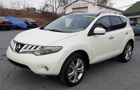 2009 Nissan Murano for sale at Bik's Auto Sales in Camp Hill PA