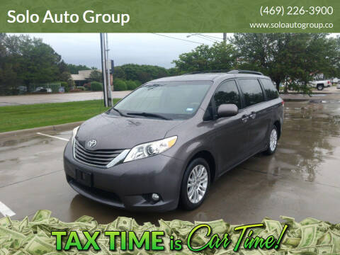 2013 Toyota Sienna for sale at Solo Auto Group in Mckinney TX