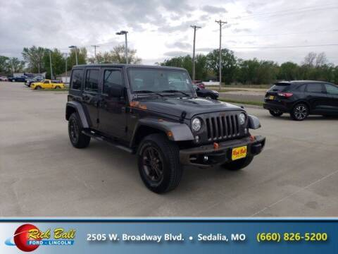 2017 Jeep Wrangler Unlimited for sale at RICK BALL FORD in Sedalia MO