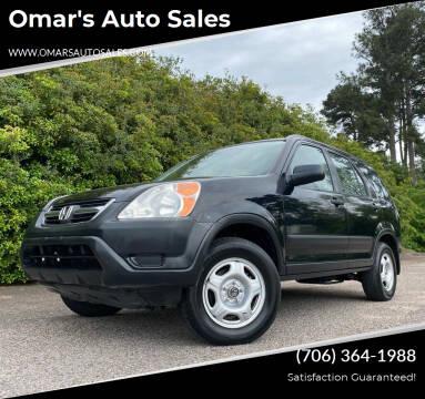 2002 Honda CR-V for sale at Omar's Auto Sales in Martinez GA