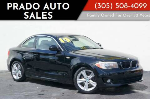 2013 BMW 1 Series for sale at Prado Auto Sales in Miami FL
