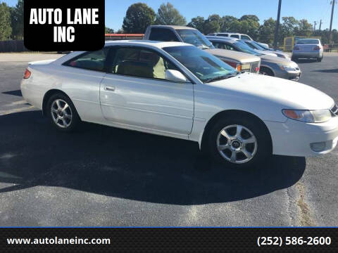 2000 Toyota Camry Solara for sale at AUTO LANE INC in Henrico NC