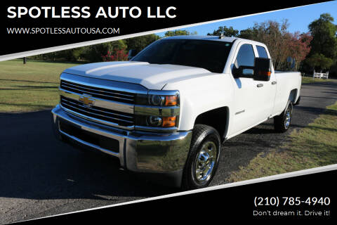 2017 Chevrolet Silverado 2500HD for sale at SPOTLESS AUTO LLC in San Antonio TX