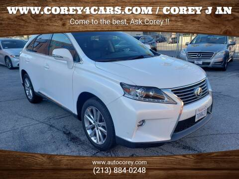 2015 Lexus RX 350 for sale at WWW.COREY4CARS.COM / COREY J AN in Los Angeles CA