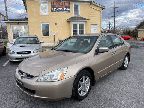2004 Honda Accord for sale at Top Gear Motors in Winchester VA