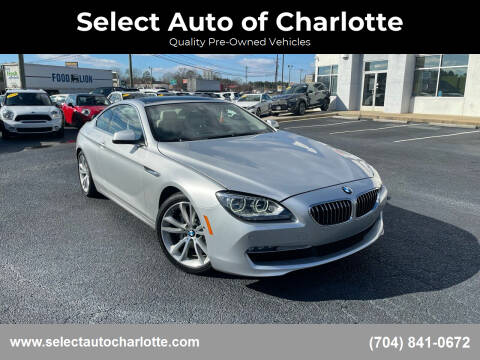 2013 BMW 6 Series for sale at Select Auto of Charlotte in Matthews NC