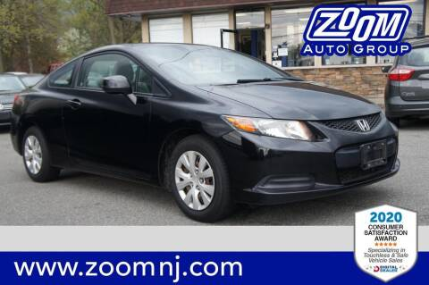 2012 Honda Civic for sale at Zoom Auto Group in Parsippany NJ