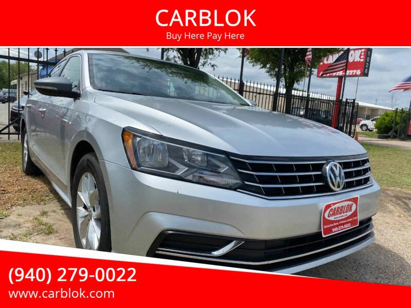 2016 Volkswagen Passat for sale at CARBLOK in Lewisville TX