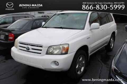 2004 Toyota Highlander for sale at Bening Mazda in Cape Girardeau MO