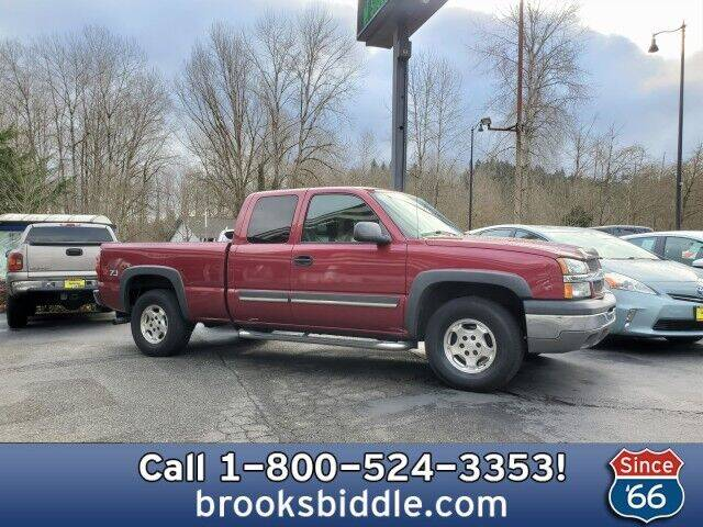 2004 Chevrolet Silverado 1500 for sale at BROOKS BIDDLE AUTOMOTIVE in Bothell WA