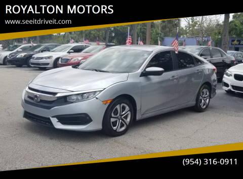 2018 Honda Civic for sale at ROYALTON MOTORS in Plantation FL
