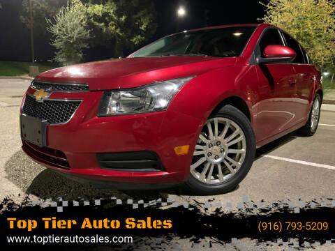 2012 Chevrolet Cruze for sale at Top Tier Auto Sales in Sacramento CA