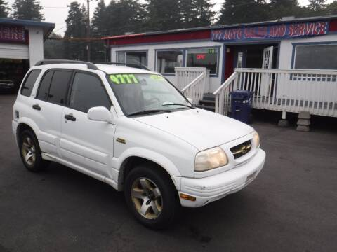 2000 Suzuki Grand Vitara for sale at 777 Auto Sales and Service in Tacoma WA