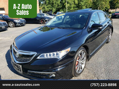 2016 Acura TLX for sale at A-Z Auto Sales in Newport News VA