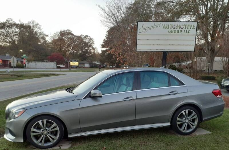 2014 Mercedes-Benz E-Class for sale at SIGNATURES AUTOMOTIVE GROUP LLC in Spartanburg SC