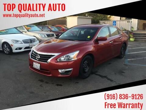 2014 Nissan Altima for sale at TOP QUALITY AUTO in Rancho Cordova CA