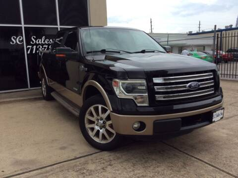 2013 Ford F-150 for sale at SC SALES INC in Houston TX