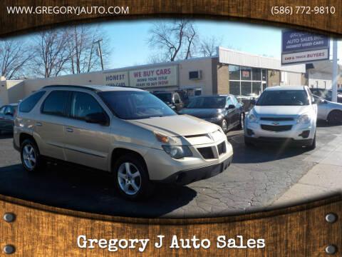 2005 Pontiac Aztek for sale at Gregory J Auto Sales in Roseville MI