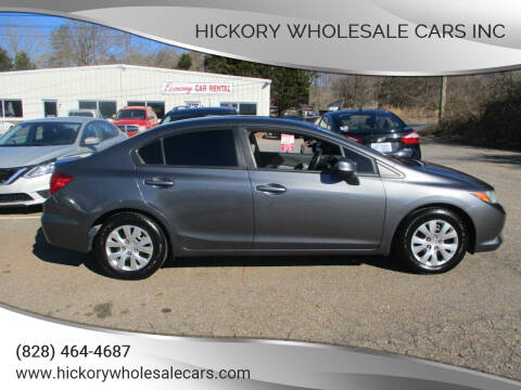 2012 Honda Civic for sale at Hickory Wholesale Cars Inc in Newton NC