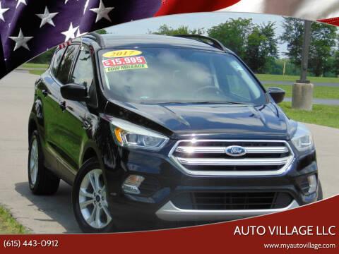 2017 Ford Escape for sale at AUTO VILLAGE LLC in Lebanon TN