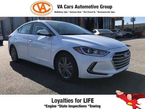 2017 Hyundai Elantra for sale at VA Cars Inc in Richmond VA