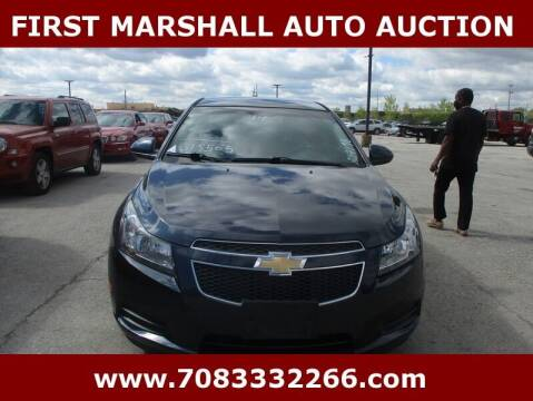 2014 Chevrolet Cruze for sale at First Marshall Auto Auction in Harvey IL