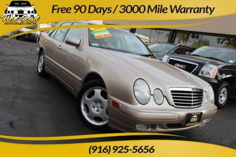 2001 Mercedes-Benz E-Class for sale at West Coast Auto Sales Center in Sacramento CA