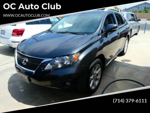 2010 Lexus RX 350 for sale at OC Auto Club in Midway City CA