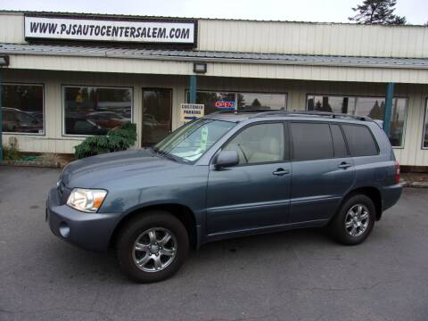 2007 Toyota Highlander for sale at PJ's Auto Center in Salem OR