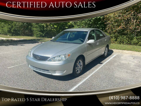 2005 Toyota Camry for sale at CERTIFIED AUTO SALES in Severn MD